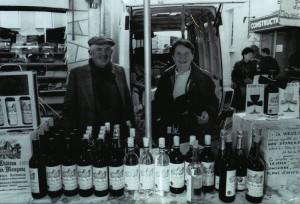 Yves et Maria sur le marché de Dordogne